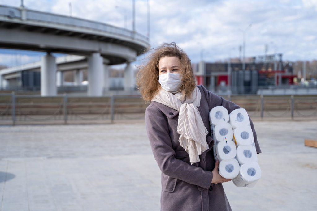Masken, Toilettenpapier, Mundschutz. Onlineshop.